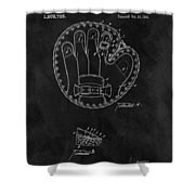 1916 Baseball Mitt Patent Shower Curtain