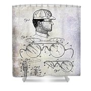 1916 Sunglasses Patent Shower Curtain