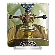 1917 Owen Magnetic M-25 Hood Ornament 2 Shower Curtain