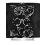 1917 Welder Goggles Shower Curtain