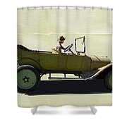 1918 Dodge Ww 1 Army Touring Vehicle Shower Curtain