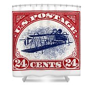 1918 Inverted Jenny Stamp Shower Curtain