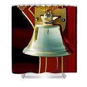 1919 Fire Truck Bell Shower Curtain