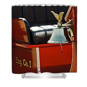 1919 Volunteer Fire Truck Eng. Co. 7 Shower Curtain