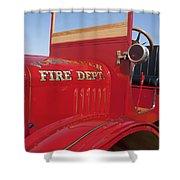 1919 Volunteer Fire Truck Shower Curtain