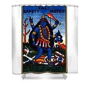 1920 Hindu Goddess Kali Shower Curtain