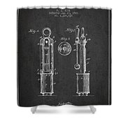 1920 Tuning Fork Patent - Charcoal Shower Curtain
