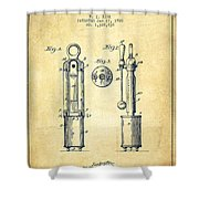 1920 Tuning Fork Patent - Vintage Shower Curtain