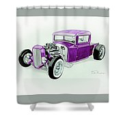 1920s Hotrod Pickup Shower Curtain