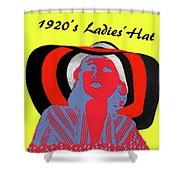 1920s Ladies Hat Shower Curtain