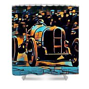1920's Racing Car Shower Curtain