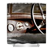 1921 Bentley Steering Wheel -0454ac Shower Curtain