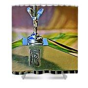 1921 Rolls-royce Silver Ghost Phaeton Hood Ornament Shower Curtain