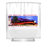 1922 Daylight Railroad Train Shower Curtain