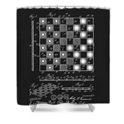 1923 Checkers And Chess Board Shower Curtain