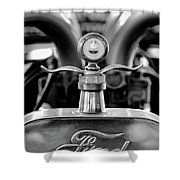 1923 Ford Hood Ornament 2 Shower Curtain