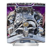 1923 Ford T-bucket Engine Shower Curtain
