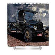 1923 Model T Ford Truck Shower Curtain