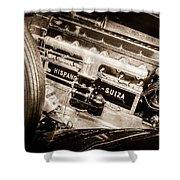 1924 Hispano-suiza H6b Dual  Cowl Sport Phaeton Engine Emblem -0258s Shower Curtain