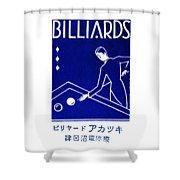 1925 Akatsuki Billiards Of Japan Shower Curtain