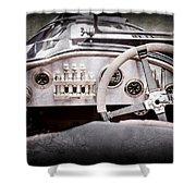 1925 Aston Martin 16 Valve Twin Cam Grand Prix Steering Wheel -0790ac Shower Curtain