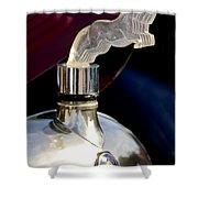 1925 Citroen Cloverleaf Hood Ornament Shower Curtain