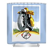 1925 Fn Motorcycles Advertising Poster Shower Curtain