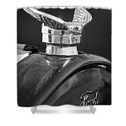 1925 Ford Model T Hood Ornament 2 Shower Curtain by Jill Reger