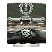 1926 Dodge Woody Wagon Hood Ornament Shower Curtain