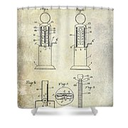 1926 Toy Filling Station Patent Shower Curtain