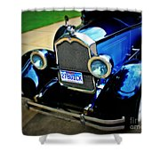 1927 Blue Buick Shower Curtain