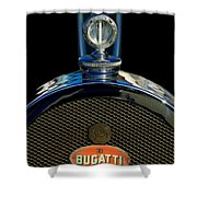 1927 Bugatti Replica Hood Ornament Shower Curtain