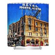 1927 Hotel Monte Vista - Flagstaff  Shower Curtain