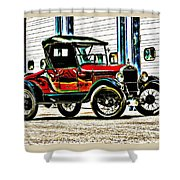 1927 Model T Ford Roadster Shower Curtain