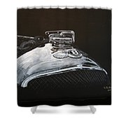 1928 Bentley Rad Cap Shower Curtain