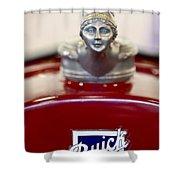 1928 Buick Custom Speedster Hood Ornament 2 Shower Curtain