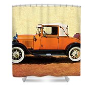 1928 Classic Ford Model A Roadster Shower Curtain