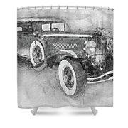 1928 Duesenberg Model J - Automotive Art - Car Posters Shower Curtain