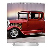 1928 Ford 'hot Rod A' Coupe Shower Curtain