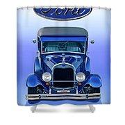 1928 Ford Tudor Sedan 'head On' Shower Curtain