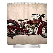1928 Indian Motorcycle Shower Curtain