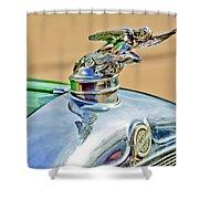 1928 Studebaker Hood Ornament Shower Curtain