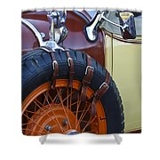 1928 Studebaker President Roadster Spare Tire Shower Curtain