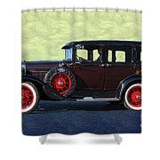 Historical Ford 4 Door Sedan Shower Curtain