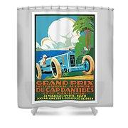1929 Cap D'antibes Grand Prix Racing Poster Shower Curtain