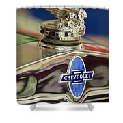 1929 Chevrolet Hood Ornament Shower Curtain