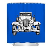 1929 Cord 6-29 Cabriolet Antique Car Illustration Shower Curtain