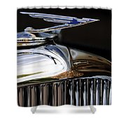 1929 Duesenberg Model J Hood Ornament Shower Curtain