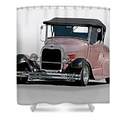 1929 Ford 'champagne Blush' Roadster Shower Curtain