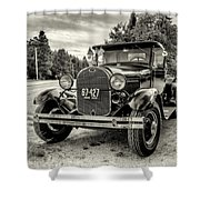 1929 Ford Model A Pickup Shower Curtain